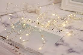 Beaded Fairy Lights 60leds 6m Ip44 String Lights Battery Operated Pearl Fairy