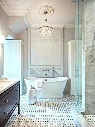 bathroom lighting chandelier fancy bath lighting inspiration and tips for hanging a chandelier over the bathtub