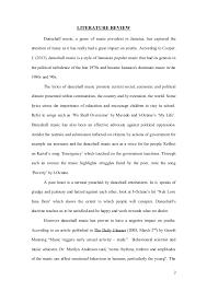 caribbean studies internal assessment sample  1 2 literature review dancehall music