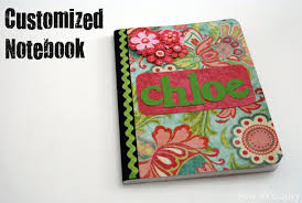 title customized notebook title sew woodsy