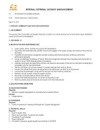 Cover Letter Internal Position Job Opening Interest Posting
