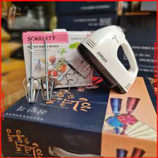 Máy Đánh Trứng Cầm Tay SCARLETT Chạy 7 Cấp Độ Bảo Hành 1 Đổi 1 - HD356 - Máy  làm bánh
