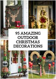 Outside Window Decorations 95 Amazing Outdoor Christmas Decorations Christmas Pinterest