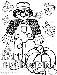 Happy Thanksgiving 1 Coloring Page Crafting The Word Of God