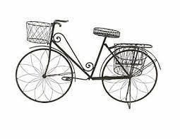 deco 79 metal bicycle garden planter