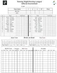 Hockey Score Sheet | Kicksneakers.co