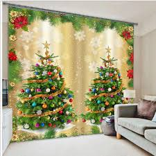 3D Christmas Curtains for Living Room blackout curtains window treatments  3D kids room curtains window curtains