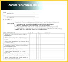 Employee Performance Assessment Examples Annual Performance Review Examples Employee Annual Review