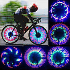 Best Bike Wheel Lights Us 4 5 10 Off Cool 2 Side 32 Led 32 Mode Night Waterproof Wheel Signal Lamp Reflective Rim Rainbow Tire Bikes Bicycle Fixed Spoke Warn Light In