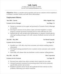 Professional Customer Service Associate Resume Template