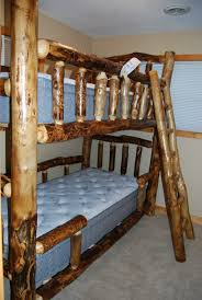 log rustic furniture amish. Amish-made Custom Aspen Bunk Beds Log Rustic Furniture Amish C