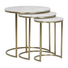 globe west elle round marble nest of 3 tables modern furniture your side tables or in