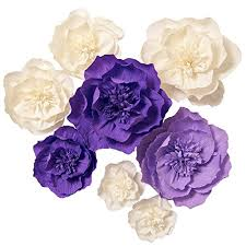 Paper Flower Photo Booth Backdrop Details About Paper Flower Decorations 8 X Crepe Giant Flowers Handcrafted Purple White For We