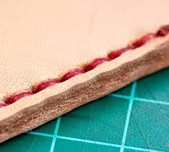 how to hand sew leather