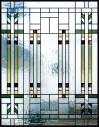 stained glass panels for doors mission style custom studio frank wright windows large framed