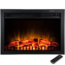 electric log heater for fireplace. Freestanding Electric Fireplace Insert Heater In Black With Tempered Glass And Remote Control Log For 2
