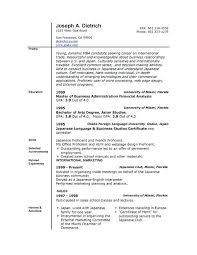 Microsoft Word Resume Format Resume Template Directory