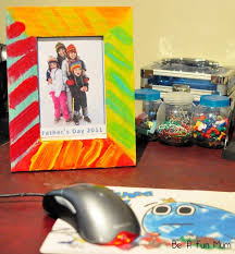 father s day craft idea painted photo frame