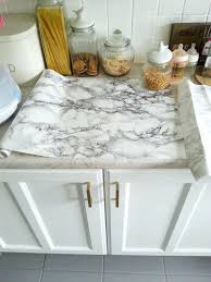 adhesive countertop paper photo of super easy marble look counters done with contact paper makedoand