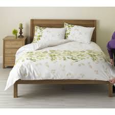 wilko duvet set double leaf design green image 1