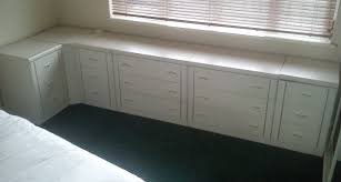 5x sets of bedroom drawers and corner unit white in bromley