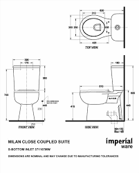 The Images Collection Of Toilet Dimensions From Wall Of Photos Toilet Dimensions