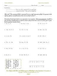 worksheet solving equations with variables worksheets