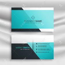 Card Design Template Elegant Business Card Design Template With Blue Shapes