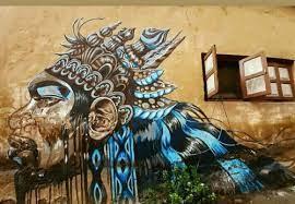 big exterior wall art सज वट द व र