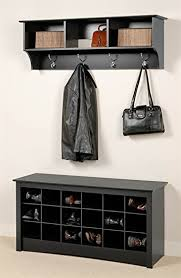 Black Wall Coat Rack Amazon Entryway Wall Mount Coat Rack w Shoe Storage Bench in 94
