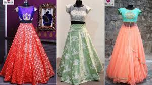 Skirt Top Stitching Designs Crop Top And Long Skirt Designs