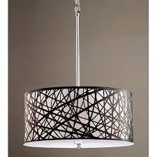 details about antique bronze drum pendant chandelier 5 light lighting lamp fixture chrome new