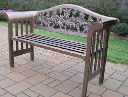aluminum garden bench.  Aluminum Slim Logo Tea Rose Royal Cast Aluminum Garden Bench With I