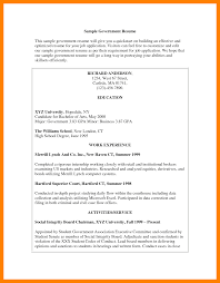 How To Write A Resume For A Government Job Resume Template