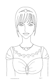 Little Princess Coloring Page Crayon Action Coloring Pages