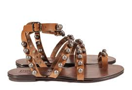pedro garcia flat gladiator sandal brown leather enrica v17 side