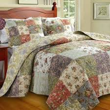 country cottage bedding sets home fashions blooming prairie collection country cottage quilt sets