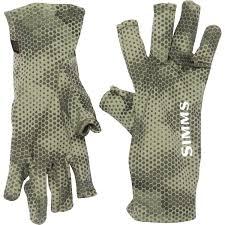 Simms Ultra Wool Core 3 Finger Liner Gloves Merino Wool