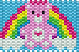 Kandi Patterns Amazing Care Bear Pony Bead Patterns Characters Kandi Patterns For Kandi Cuffs