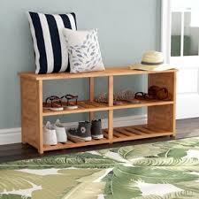 10 pair bamboo shoe storage bench