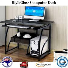 home office computer. Interesting Home Home Office Computer Desk Table High Gloss Furniture Pullout Drawer And  Shelves On