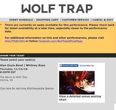 Wolf Trap Seating Chart