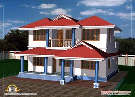 home design two story house plan sq ft kerala and floor square