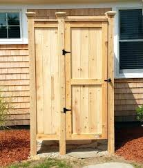 Building An Outdoor Shower Enclosure Plans Showers Designs Cedar Floor Outside Ideas Buil  Best Wood For