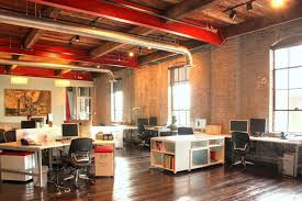 creative office space ideas. Office:Charming Office Design With Wooden Ceiling And Black Glass Window Also Brick Wall Decorating Creative Space Ideas