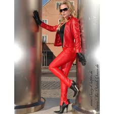 leather trouser ds 400 red