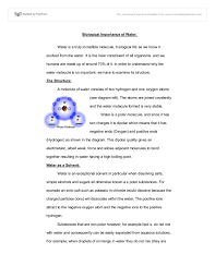 water essay essay on water wolf group biological importance of  biological importance of water a level science marked by document image preview
