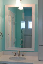 Cabinets To Go Bathroom White Craftsman Style Mirror Frame Kit To Go With Your New White