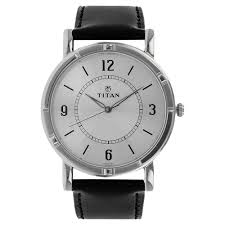 titan silver round dial leather strap og watches for men nk1639sl03 at best in india titan co in titan