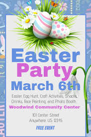 Easter Party Flyer Template Postermywall